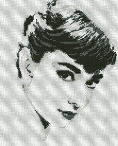 схема Портрет Одри Хепберн